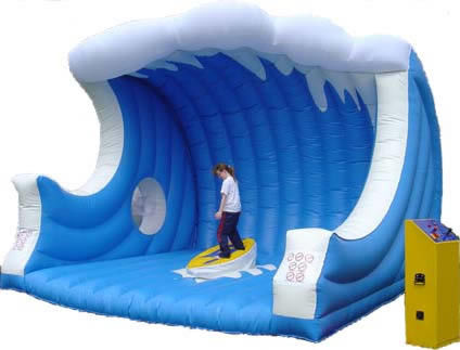 pl4936113 giocattoli gonfiabili su misura di sport stuoia gonfiabile con il surf meccanico - PACCHETTO SURF MECCANICO SILVER