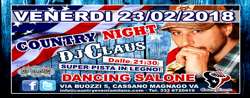 DANCING SITO1 - EVENTI COUNTRY: Giovedì Country Night allo Spazio Epoca Milano