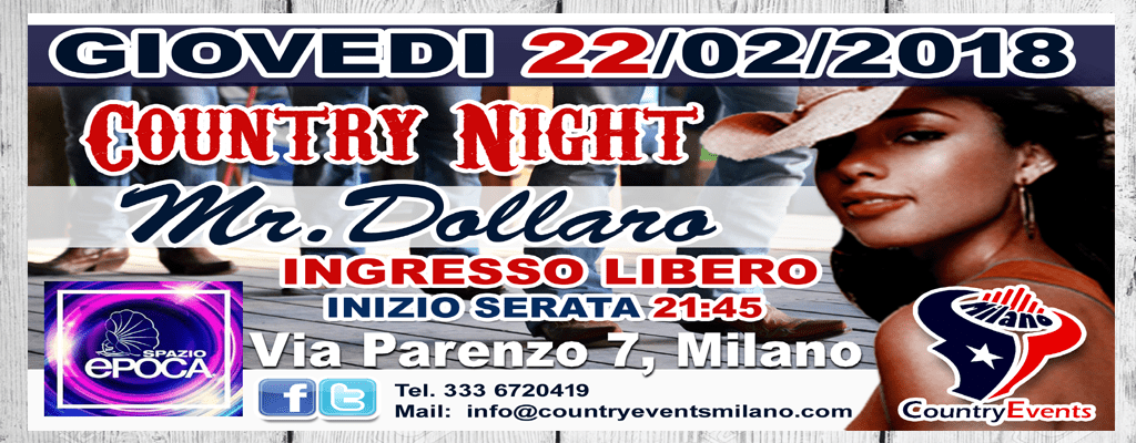 SPAZIOEPOCA SITO 2 - EVENTI COUNTRY: Giovedì Country Night allo Spazio Epoca Milano