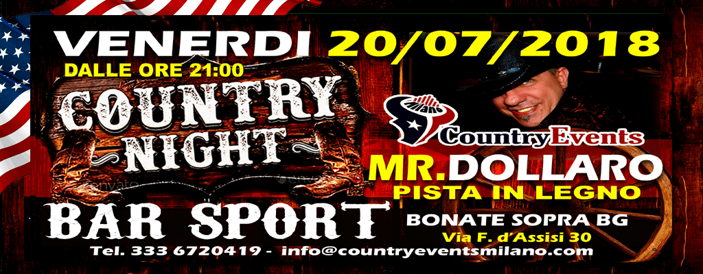BONATESOPRA SITO - EVENTI COUNTRY: Country Night al Gatto Nero di Merate LC