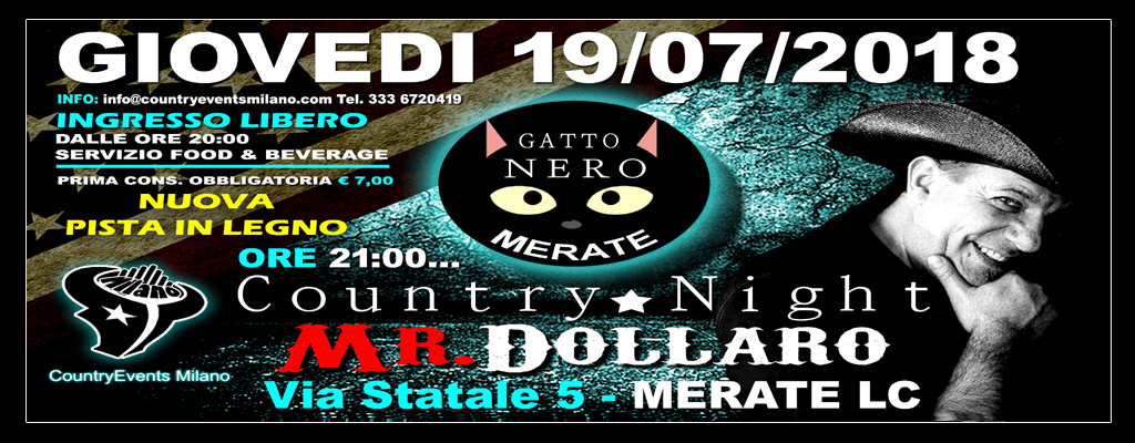 GATTONERO SITO 1 - EVENTI COUNTRY: Country Night al Gatto Nero di Merate LC