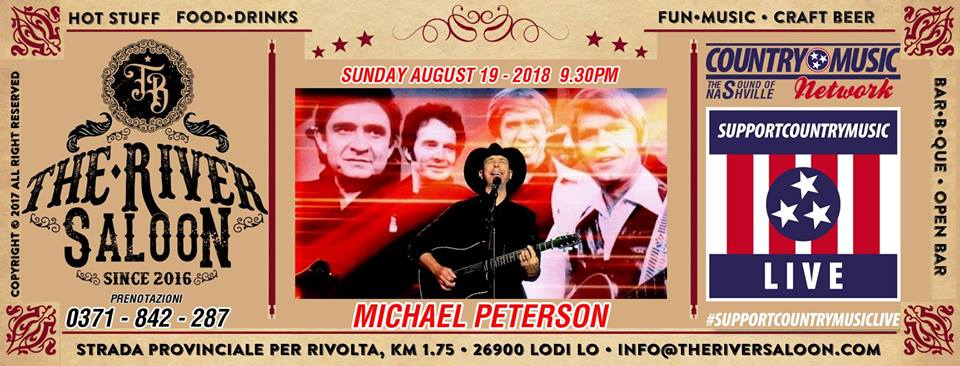 36692983 684546351914967 8662696311566368768 n - CONCERTI COUNTRY: Michael Peterson al The River Saloon di Lodi