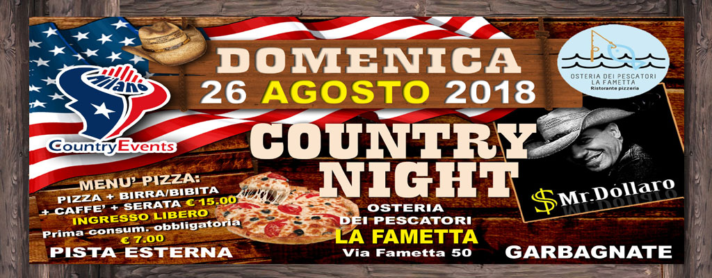 GARBAGNATE SITO 01 2 - CONCERTI COUNTRY: Michael Peterson al The River Saloon di Lodi