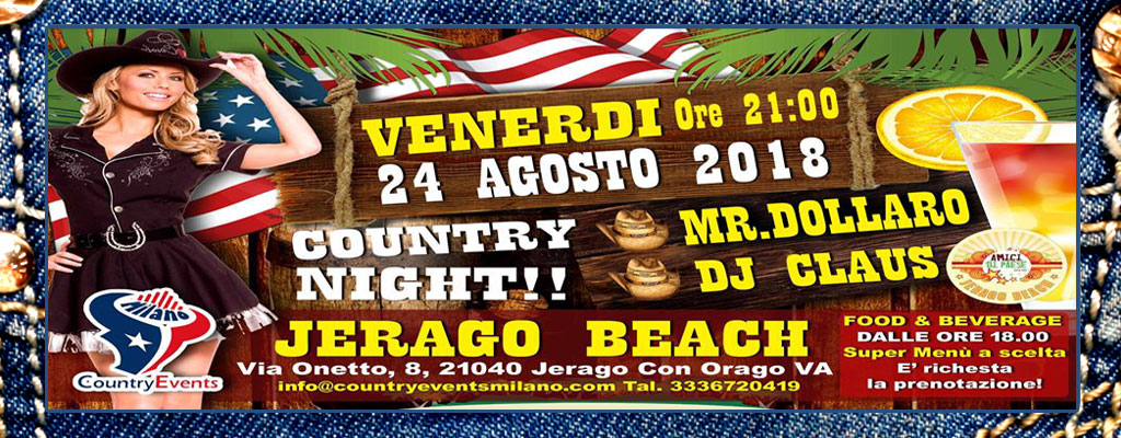JERAGO SITO - CONCERTI COUNTRY: Michael Peterson al The River Saloon di Lodi